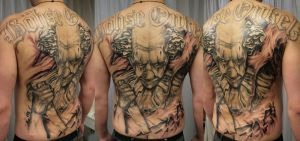 BO Clown Backpiece 5 Session by 2Face-Tattoo