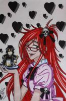Black Butler Grell ( Yana Toboso) by Theresem97