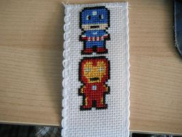 Avenger bookmark part one by dottypurrs