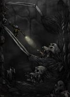 Beowulf and Grendel by Trudsss