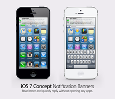iOS 7 Concept: Notification Banner by theIntensePlayer