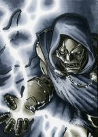 Doctor Doom Sketch Card by RichardCox