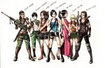 Resident Evil Girls by SRIJUGAWAN