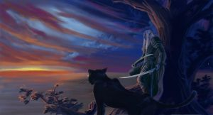 "Drizzt-Guen  ""First Dawn"" by Athena-Erocith"