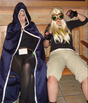 My Sister and I as Terra and Raven by Angels7