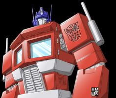Optimus Prime colored by rattrap587