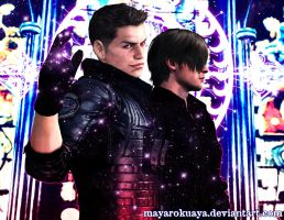 Evil Magic - Piers Nivans x Leon S. Kennedy by MayaRokuaya