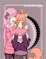 Pinky and Momo by cuteredcherry
