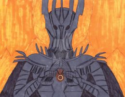 Sauron forges the ring by KATTALNUVA