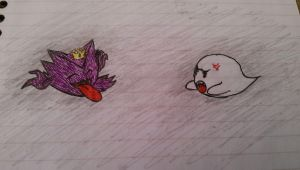 Haunter and King Boo by cetra2006