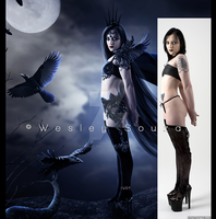 Queen Of The Ravens - before and after by Wesley-Souza