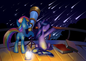 Meteor Shower by GashibokA
