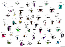 Anime Eyes- practice by izka197