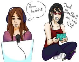 Girls Who Play Video Games by CaiteSith