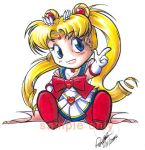 Chibi Sailor Moon design by Bee-chan