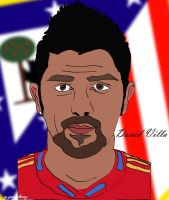 David Villa Cartoon by bluezest1997