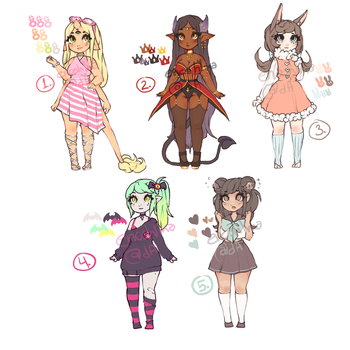 $10/1000p Adoptables 2 - 0/5 (closed!) by enoshlma