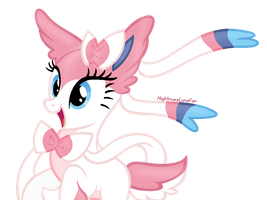 Sylveon The Fluffy Pony by NightmareLunaFan