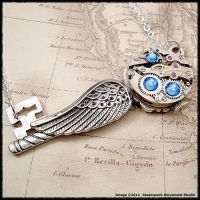Steampunk Victorian Angel Key by SoulCatcher06