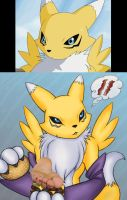 Renamon and the Runner: Foot Burger by GothicWonderlust