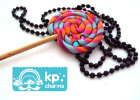 Lollipop necklace by KPcharms