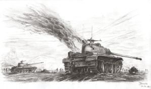 Tank assault by JanBoruta
