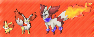 Fennekin fake evo line by shinyscyther
