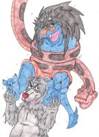 Amru And Kaa: Un-Bear-able Tickling Torture by KnightRayjack