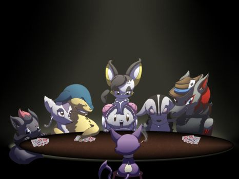 Poker Night by beatrizearthbender