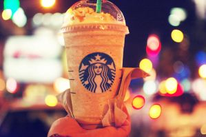 caramel frappe by puddingpolaroid
