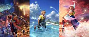 Tidus, Yuna and Auron by AuraIan