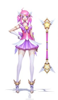 Star Guardian Lux Concept Art by Zeronis