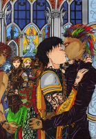 Alec kisses Magnus by Enoa79
