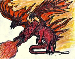 Fire Dragon Rage by Zed-of-Venice