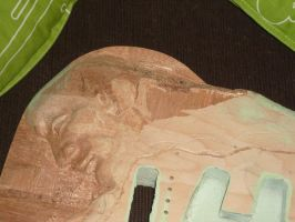 Sculpted Guitar preparation5 by Mymakao