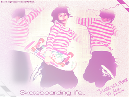 Skateboarding life.. by cassie93