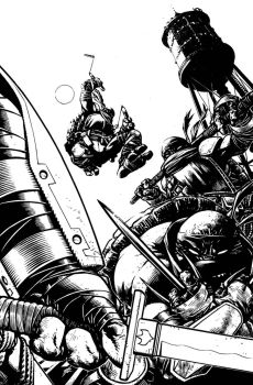 TMNT Deviations Cover Inks by Spacefriend-KRUNK