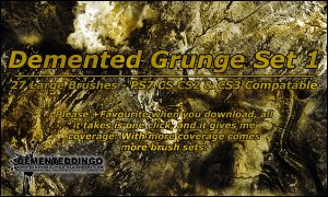 Demented Grunge Set 1 by dementeddingo
