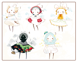 [OPEN - 2 left] ADOPT Set price 182 - Trillibel by Piffi-adoptables