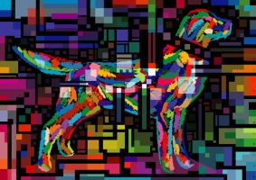 Variegated Dog ll, 2008 by leavingsosoon