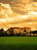 Burghausen - Sunset Castle by LorenzoDiFolco