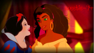 Esmeralda and Snow White by SweetHea