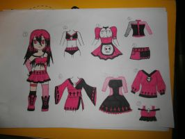 clothes and chibi adoptable (closed) by Evil-Alice8Adoptable