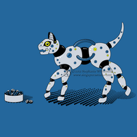 Feed Your Robot Cat (Yellow) by SingapuraStudio
