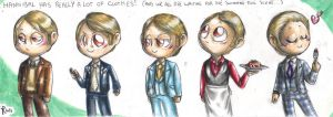 Chibi Hannibal - Lecter's wardrobe by FuriarossaAndMimma