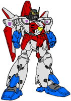 Gundam Starscream by shegomaniac