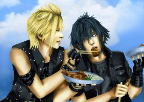 Taste this - Prompto and Noctis by Tsukishibara