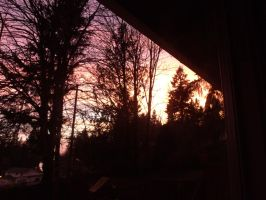 Sunset at my house. by pokemontrainerjay