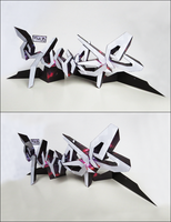 Papercraft 3d Graffiti - RUMBLE by valkyr-one