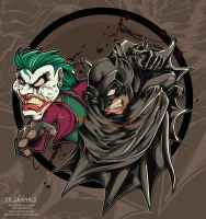batman and joker by biktor21